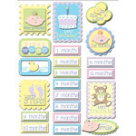K and Company - Baby Collection - Grand Adhesions Stickers - Baby Firsts, BRAND NEW