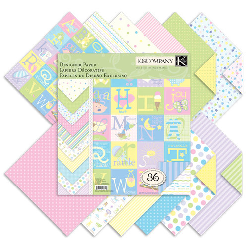 K and Company - Baby Collection - 12 x 12 Designer Paper Pad - Snuggle Bug