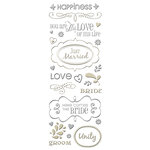 K and Company - Foil Sculpted Embossed Stickers - Tie the Knot, BRAND NEW