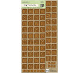 K and Company - Eco-Modern Collection - Embossed Stickers - Alphabet