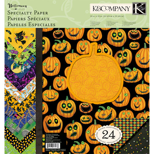 K and Company - Halloween Collection by Tim Coffey - 12 x 12 Specialty Paper Pad