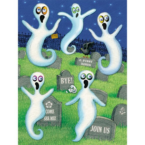 K and Company - Halloween Collection by Tim Coffey - Grand Adhesions Stickers - Ghost