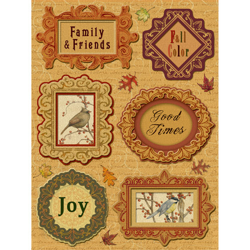 K and Company - Fall Collection by Tim Coffey - Grand Adhesions Stickers - Frames, CLEARANCE