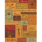 K and Company - Fall Collection by Tim Coffey - Embossed Stickers - Words