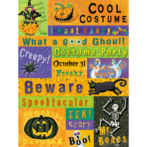 K and Company - Halloween Collection by Tim Coffey - Embossed Stickers - Words