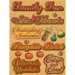 K and Company - Fall Collection by Tim Coffey - Adhesive Chipboard, CLEARANCE