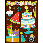 K and Company - Grand Adhesions 3 Dimensional Stickers - Birthday