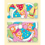 K and Company - Confetti Collection - Layered Accents with Glitter Accents - Party Hats, CLEARANCE