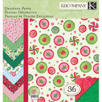 K and Company - Secret Santa Collection - 12 x 12 Specialty Paper Pad