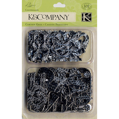 K and Company - Elegance Collection - Alphabet Chipboard Pieces, CLEARANCE