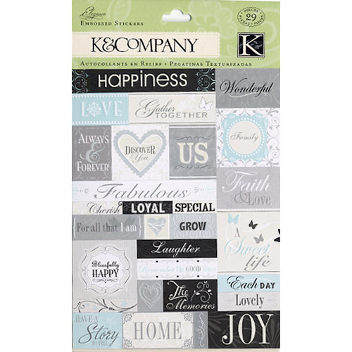 K and Company - Elegance Collection - Embossed Stickers  , CLEARANCE