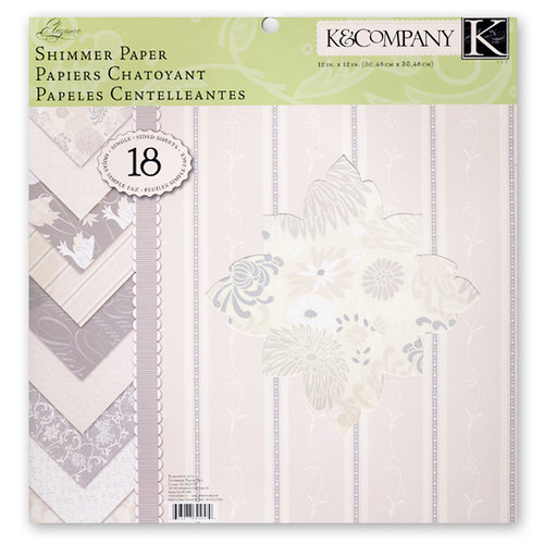 K and Company - Elegance Collection - 12 x 12 Shimmer Paper Pad
