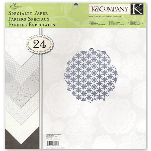 K and Company - Elegance Collection - 12 x 12 Specialty Paper Pad