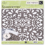 K and Company - Elegance Collection - 12 x 12 Silhouettes Die Cut Paper Pack
