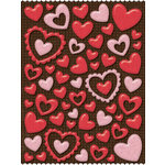K and Company - Ka-Zoo Valentine Collection - Glitter Pillow Stickers - Hearts, CLEARANCE