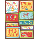 K and Company - Spaghetti Collection - Grand Adhesions Stickers with Varnish Accents - Word, CLEARANCE