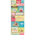 K and Company - Serendipity Collection - Embossed Stickers - Words, CLEARANCE
