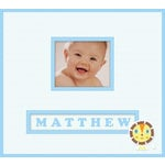K and Company - Lion Sleeps Collection - Frame a Name - 12 x 12 Scrapbook Album - Baby Boy