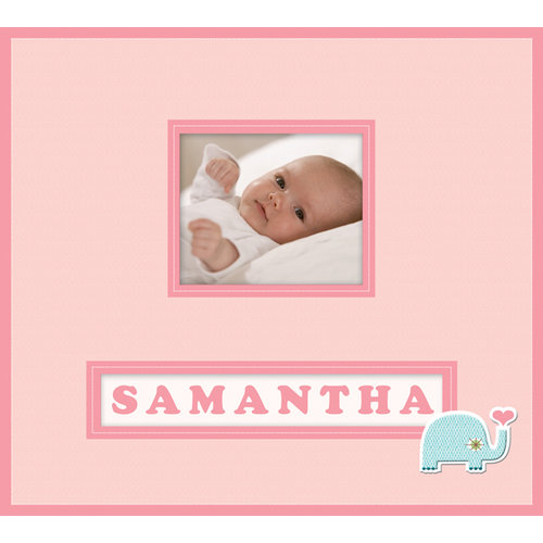 K and Company - Lion Sleeps Collection - Frame a Name - 12 x 12 Scrapbook Album - Baby Girl