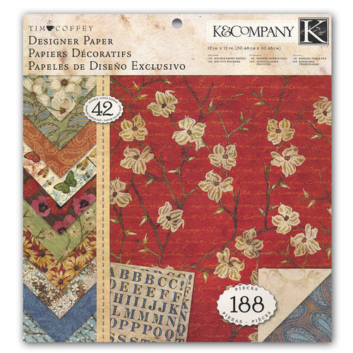 K and Company - Blossomwood Collection by Tim Coffey - 12 x 12 Designer Paper Pad