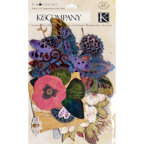 K and Company - Blossomwood Collection by Tim Coffey - Die Cut Cardstock and Acetate Pieces