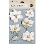 K and Company - Blossomwood Collection by Tim Coffey - Grand Adhesions Stickers - Paper Flowers, CLEARANCE