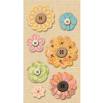 K and Company - Handmade Collection - Mini Accents - Stitched Floral, CLEARANCE