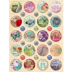 K and Company - Jubilee Collection - Clearly Yours - Epoxy Stickers with Glitter Accents - Icons, CLEARANCE