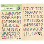 K and Company - Jubilee Collection - Die Cut Stickers with Foil Accents - Alphabet, CLEARANCE