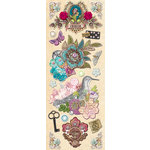 K and Company - Jubilee Collection - Adhesive Chipboard with Glitter and Gem Accents - Icons, CLEARANCE