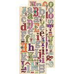 K and Company - Jubilee Collection - Adhesive Chipboard with Foil and Gem Accents - Alphabet, CLEARANCE