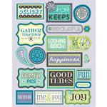 K and Company - PoppySeed Collection - Embossed Stickers with Foil Accents - Words, CLEARANCE