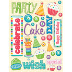 K and Company - Confetti Collection - Clearly Yours - Epoxy Stickers with Glitter and Gem Accents - Words, CLEARANCE