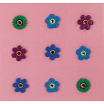 K and Company - Brads with Gem Accents - Flower