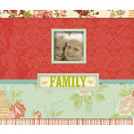 K and Company - Simply K Collection - Frame a Name - 8.5 x 8.5 Scrapbook Album - Family Red Floral
