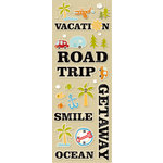 K and Company - Handmade Collection - Adhesive Chipboard - Travel