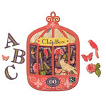 K and Company - Handmade Collection - Chipboard Box - Lofty Nest Alphabet, CLEARANCE