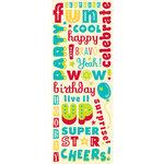 K and Company - Confetti Collection - Glitter Stickers - Words