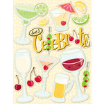 K and Company - Confetti Collection - Grand Adhesions with Glitter Accents - Celebration