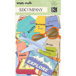 K and Company - Happy Trails Collection - Die Cut Cardstock - States, CLEARANCE