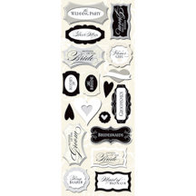 K and Company - Forever Yours Collection - Adhesive Chipboard - Wedding Titles, CLEARANCE