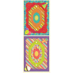 K and Company - Confetti Collection - Adhesive Chipboard Frames with Foil and Gem Accents