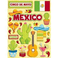 K and Company - Citronella Collection - Grand Adhesions Stickers - Mexico