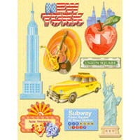 K and Company - Happy Trails Collection - Grand Adhesions Stickers - New York
