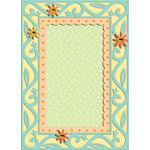 K and Company - Confetti Collection - Grand Adhesions with Glitter and Gem Accents - Frame
