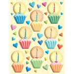 K and Company - Confetti Collection - Pillow Stickers - Cakes and Hearts