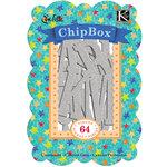 K and Company - Confetti Collection - Chipboard Box - Silver Glitter Alphabet