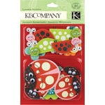 K and Company - Layered Accents with Glitter and Googly Eye Accents - Lady Bug, CLEARANCE