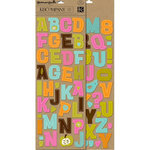 K and Company - Greenhouse Collection - Adhesive Chipboard - Alphabet