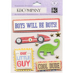 K and Company - 3 Dimensional Stickers with Gem and Epoxy Accents - Little Guy